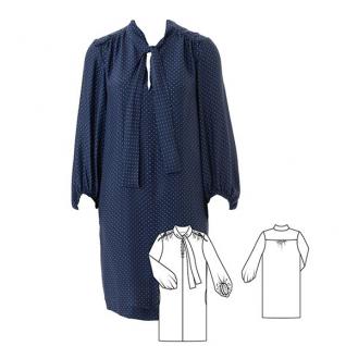 Як пошити сукню сорочкового крою з коміром-бантом
