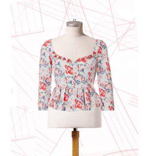 Як пошити блузку-жакет з пишною баскою
