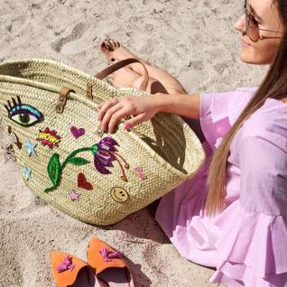 Прикрашаємо плетений кошик і одяг аплікаціями з пайєток