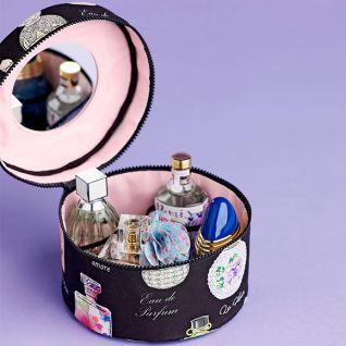 Як зробити круглу косметичку для парфумів і прикрас