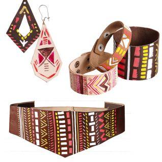 Ремінь, браслети та сережки в етностилі