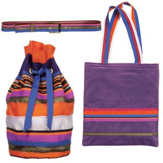 Як зробити рюкзак, сумку і ремінь з репсових стрічок