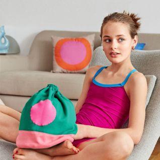 Трикотажна сумка-мішок для дівчинки