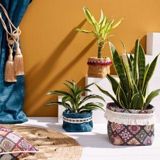 Як зробити текстильне кашпо для квіткового горщика