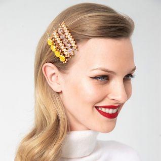 Заколки для волосся кристалами та намистинами