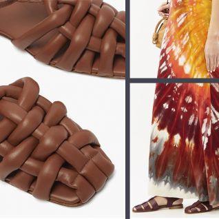 Модні сандалії з закритим мисом
