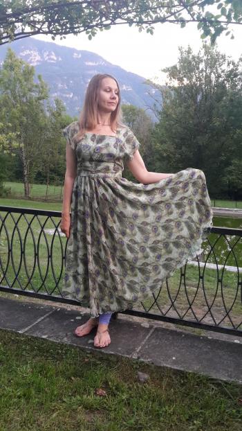 """Сукня з шовкового шифону """"Райська пташка"""""""