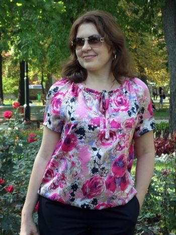 блузка з атласу