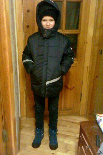 Тепла куртка для сина