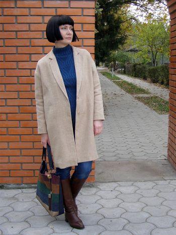 Пальто оверсайз кольору кемел