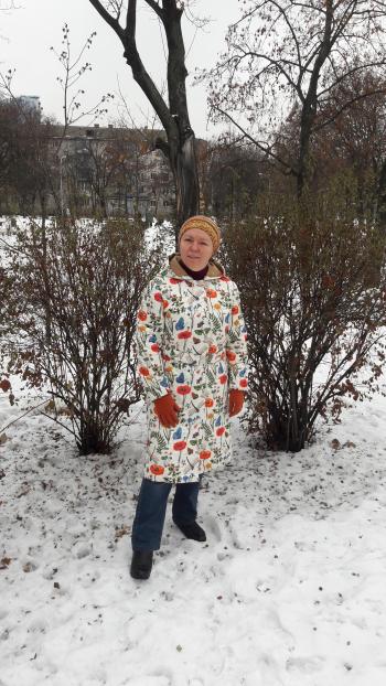 """Куртка """"Квіти на снігу"""""""