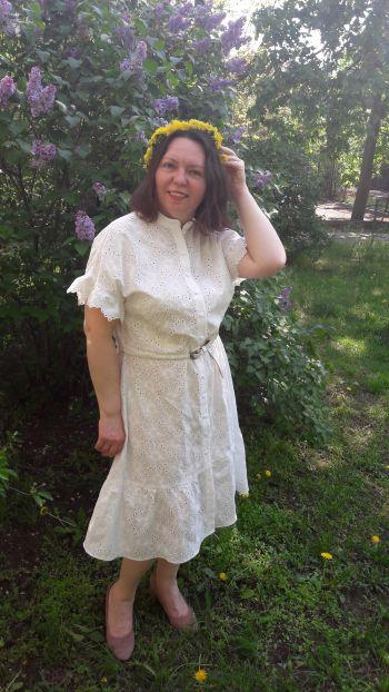 """Сукня карантинна """"Біла піна"""""""