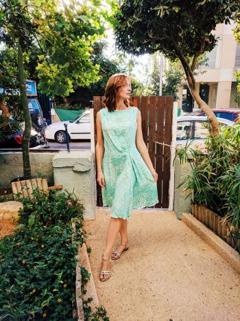 Сукня - світло-зелений леопардик