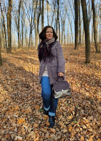 Пальто-кардиган для теплої осені.