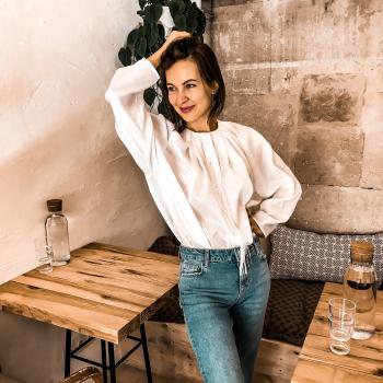 Блуза over-size з бахромою