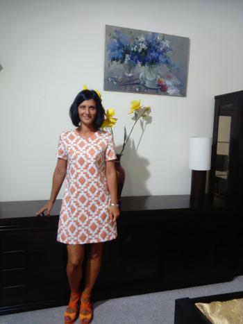 Сукня в ромби