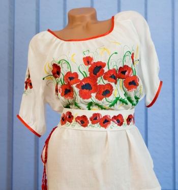 """Блуза с вышивкой """"Маковое поле"""""""