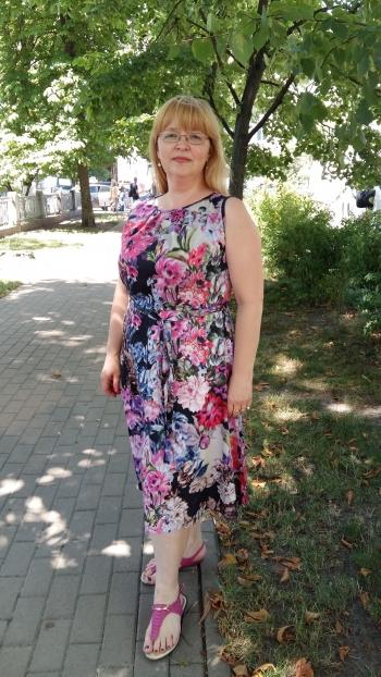 Літня сукня комбінована