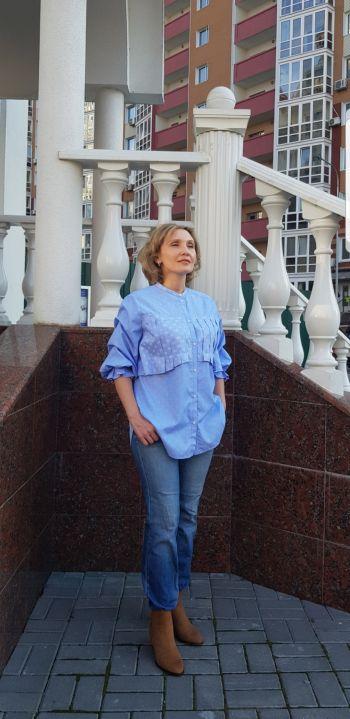 """Блузка-сорочка """"Блакитна хмарка"""""""