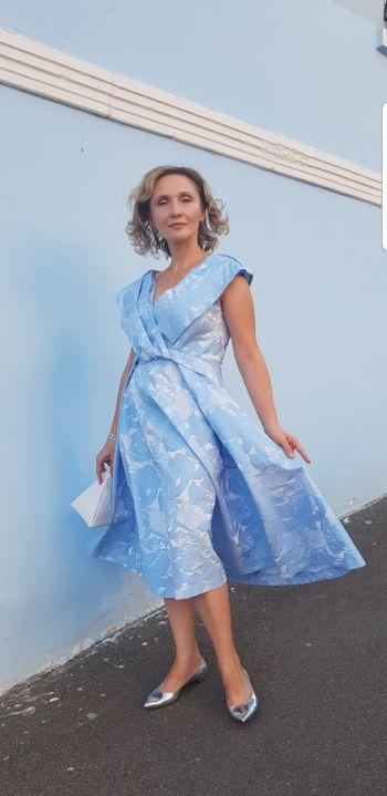 Сукня ретро на конкурс #Стань моделлю для новорічної обкладинки Burda Style