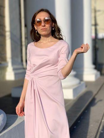 Рожева коктейльна сукня
