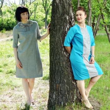 Дві сукні по одній викрійці