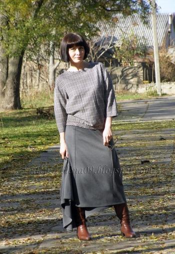 Спідниця зі шлейфом