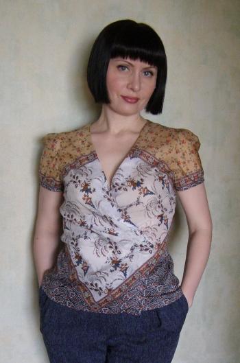 Блузка з хусткового купону
