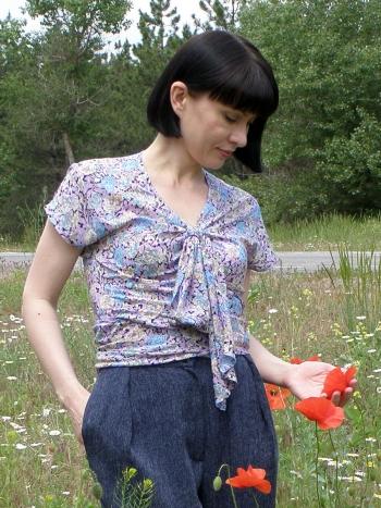 Блузка по вінтажній викрійці