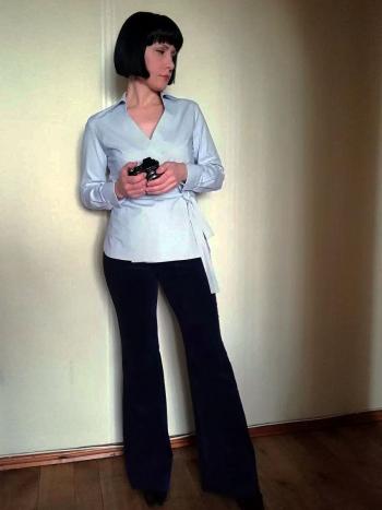 Блузка і брюки кльош для доньки