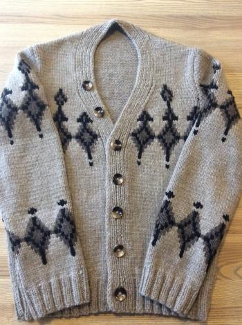 Мужской пуловер с жакардовым узором