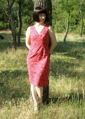 Сукня червона - вінтаж 1965