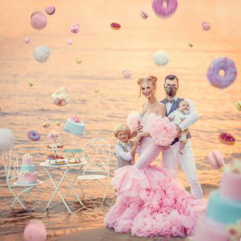 Зефірна сукня для солодких фотосесій