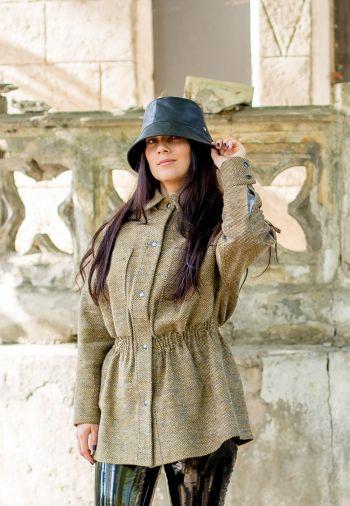 Шиємо парку. Мій варіант з вовняного твіду та шкіряний капелюх.