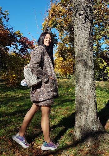 Пальто та сукня з мохеру