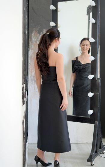 Шиємо чорно-біле! Моя сукня з бантом.