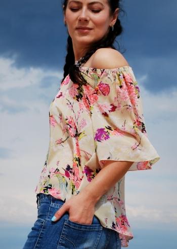 Блуза літня з шифону