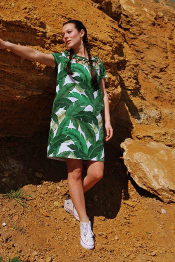 Сукня з банановим листям