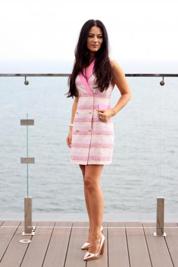 Шиємо сукню-смокінг