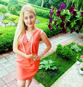 Помаранчева сукня зі шнурівкою