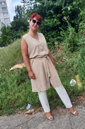 Липневий жилет-сукня