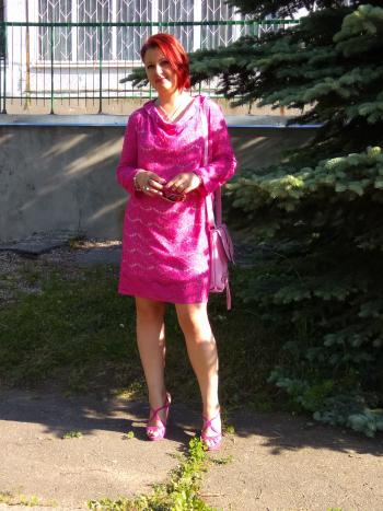 Мереживна рожева сукня