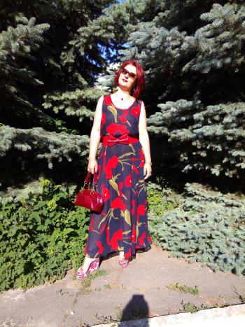 Сукня - червоні кали