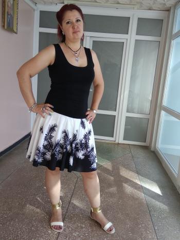 Чорно-біла сукня