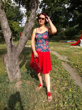 """Сарафан """"Леді in red"""""""