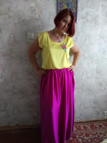 Сонячно-ягідна сукня