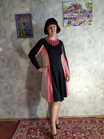Листопадовий триколор. Сукня