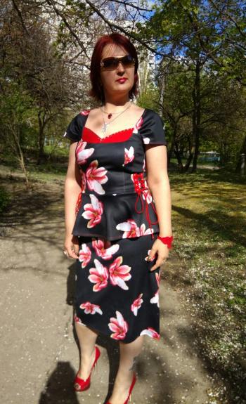 Травнева магнолія - сукня модель 108