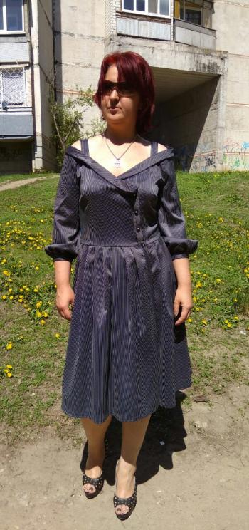 Смугастий травень - сукня модель 109