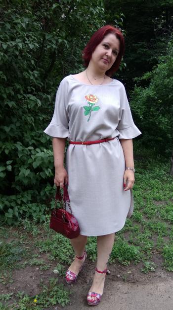 Сукня - льон і троянда